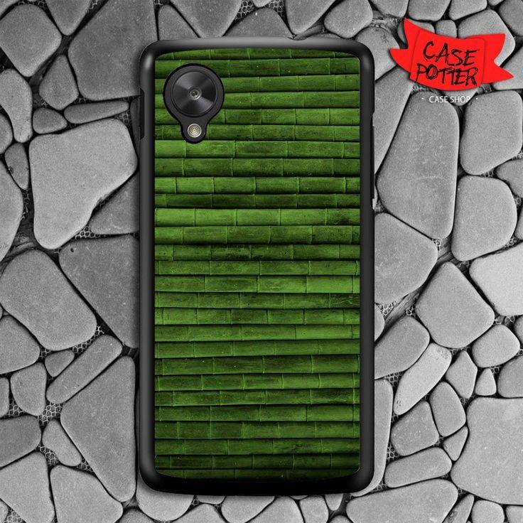 Green Bamboo Texture Nexus 5 Black Case