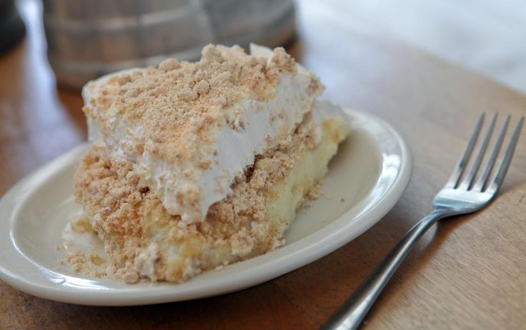 This undated image supplied by Yoder's Restaurant in Sarasota, Fla., shows a slice of peanut butter pie. No meal is complete without trying ...