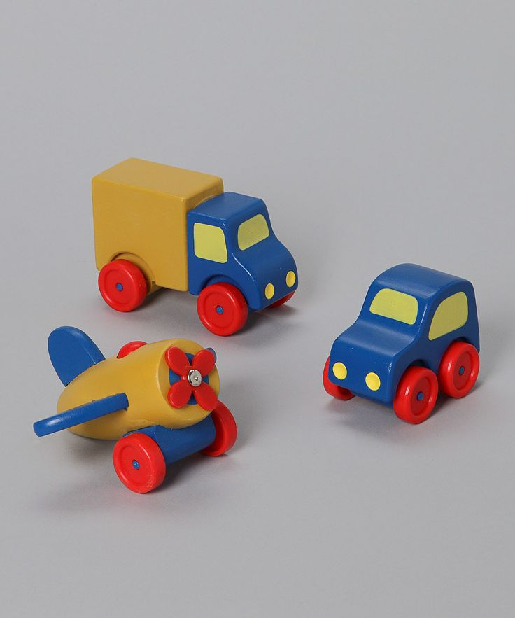 """I love """" back to basics"""" style toys! Look at this #zulilyfind! First Vehicles Set by Melissa & Doug #zulilyfinds"""