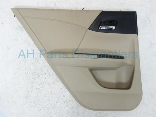 Used 2013 Honda Accord Rear driver DOOR PANEL LINER - TAN LEATHER  83750-T2F-A61ZA 83750T2FA61ZA. Purchase from https://ahparts.com/buy-used/2013-Honda-Accord-Trim-Rear-driver-DOOR-PANEL-LINER-TAN-LEATHER-83750-T2F-A61ZA-83750T2FA61ZA/117152-1?utm_source=pinterest