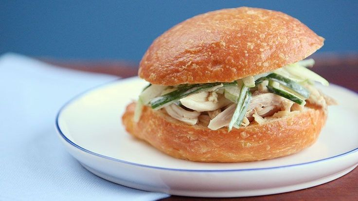 Sarah Carey introduces a whole new way to eat moist Rotisserie chicken by making a delicious Pulled Chicken Sandwich with Cucumber and Apple Slaw, its a must try sandwich for summer, enjoy!