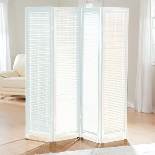 Find It At The Foundary Wooden Shutter Screen Room Divider 4 Panel White Interior Design