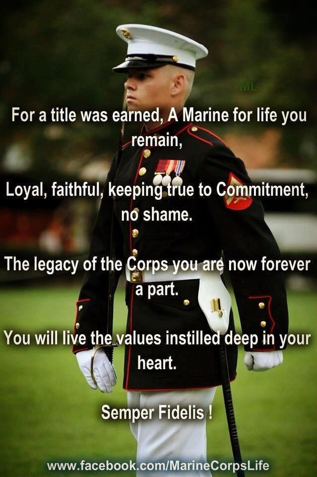 OORAH! Once a Marine always a Marine
