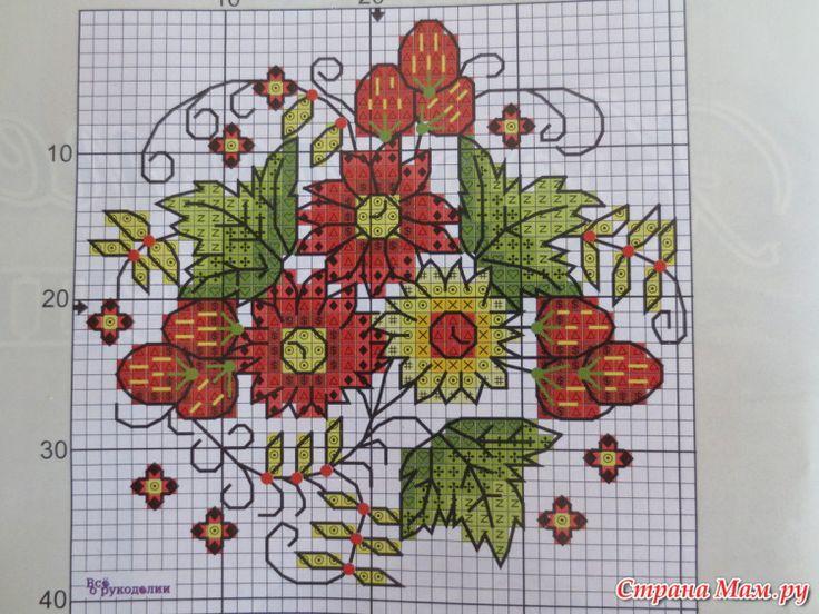 Cross-stitch Country Mason Jar Top Set, part 2...  color chart on part 5...   Gallery.ru / Фото #6 - вышивка схемки разное - pedak