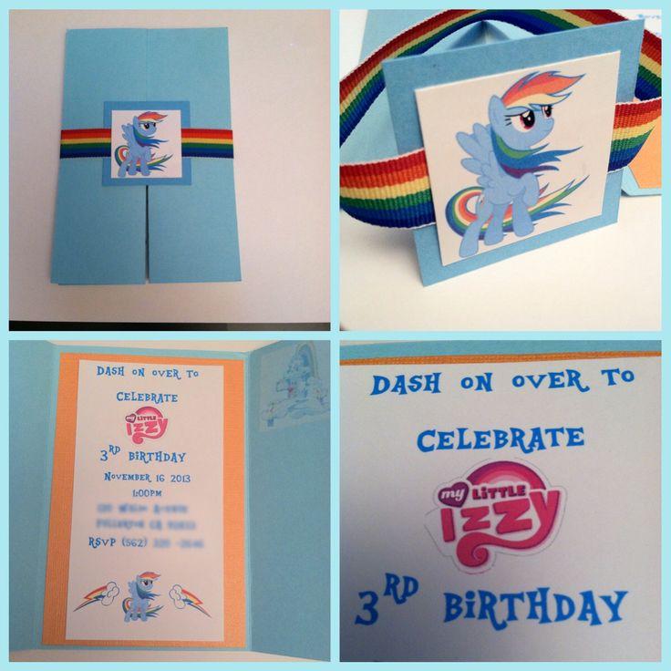 Rainbow dash invitation, my little pony invitation