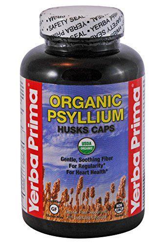 Yerba Prima Organic Psyllium Husk Supplement Capsule, 180 Count //Price: $10.93 & FREE Shipping //     #hashtag1