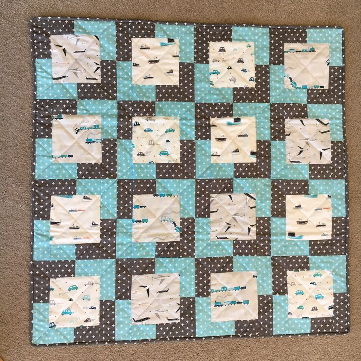 Great Dear Stella transport fabric for a baby boy quilt, hope you like it, baby Roman!