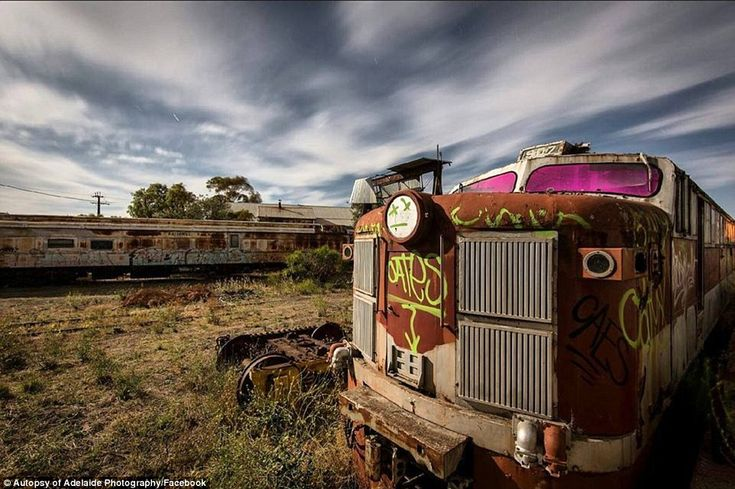 A train graveyard in Tailem Bend in South Australia where many trains go after they are decommissioned