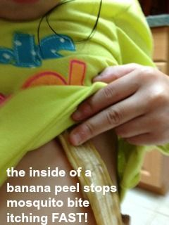 banana peel remedy