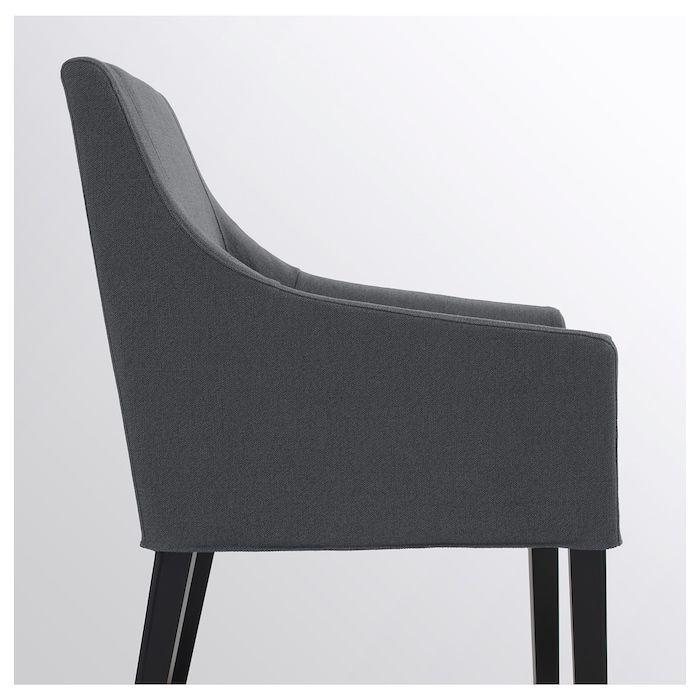 sakarias chaise a accoudoirs noir