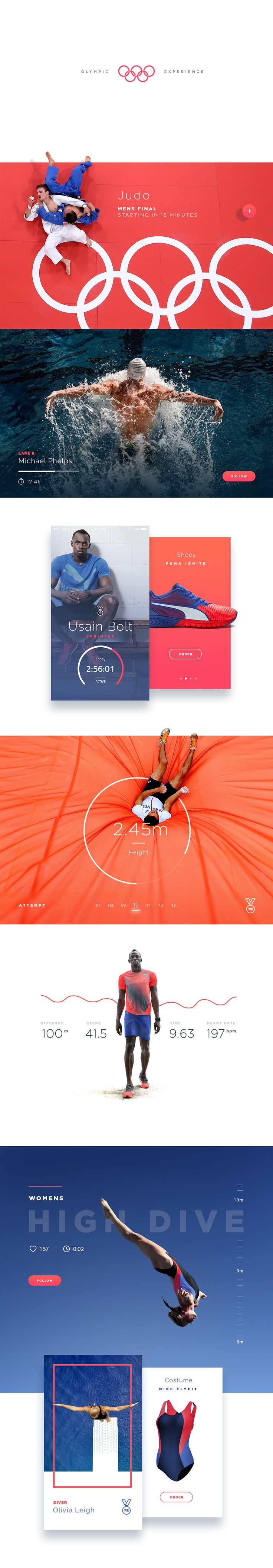 The Olympic data allows for a much richer experience. The UX is designed to give the viewer an unparalleled Olympic experience through a wealth of beautifully curated content.