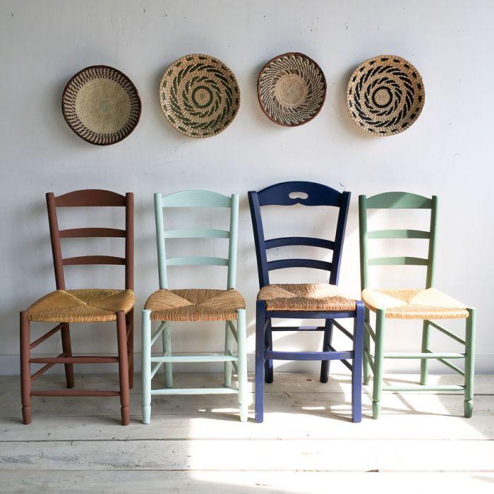 Chaise Paille Et Bois 4 Couleurs Chaises Bois Chaise Paille Mobilier De Salon