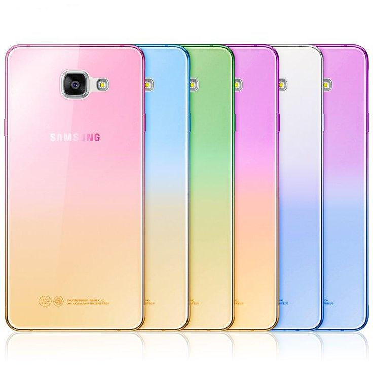 For iPhone 6 Fashion Soft TPU Gradient Color Back Cover Case for Samsung Galaxy A3 A5 A7 2016 J1 J3 J5 J7 S6 S7 Edge Grand Prime