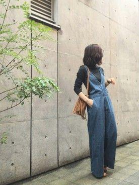 LIFE's代官山店|HITOMI HIROTAさんの「EASYデニムサロペット(TODAYFUL|トゥデイフル)」を使ったコーディネート
