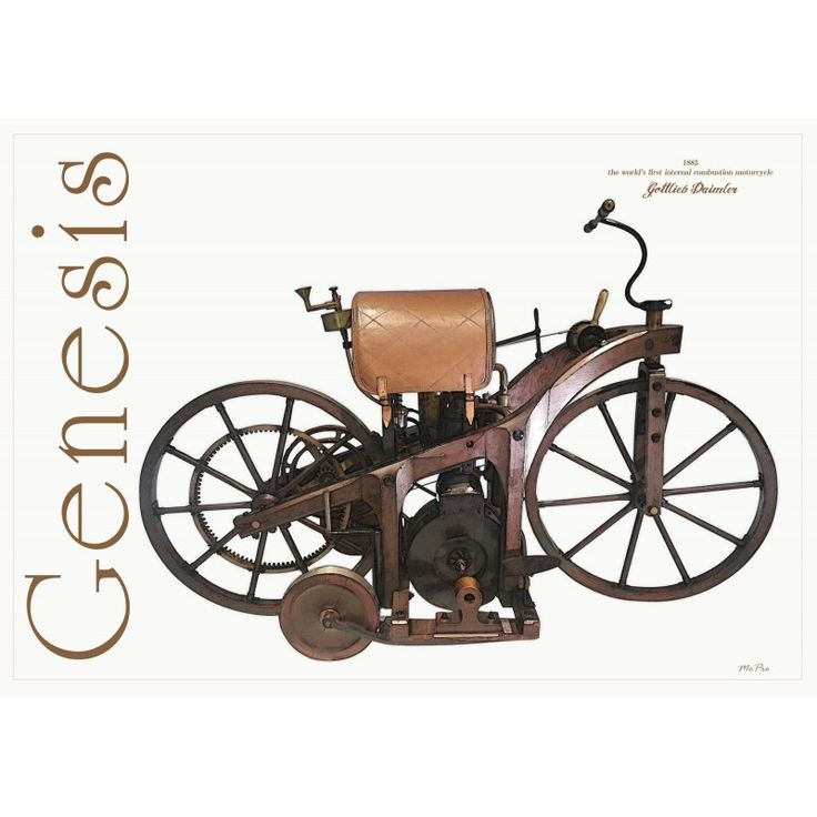 1885 Gottlieb Daimler Motorcycle  -  This is the first internal combustion motorcycle built by Gottlieb Wilhelm Daimler in 1885.