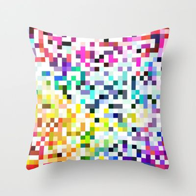 Pixelated No.1 Throw Pillow by House of Jennifer - $20.00