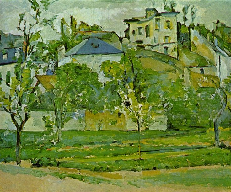 Orchard in Pontoise - Paul Cezanne  #cezanne #paintings #art