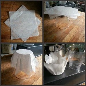 How to make pretty parchment cups for muffins like in the coffee shop