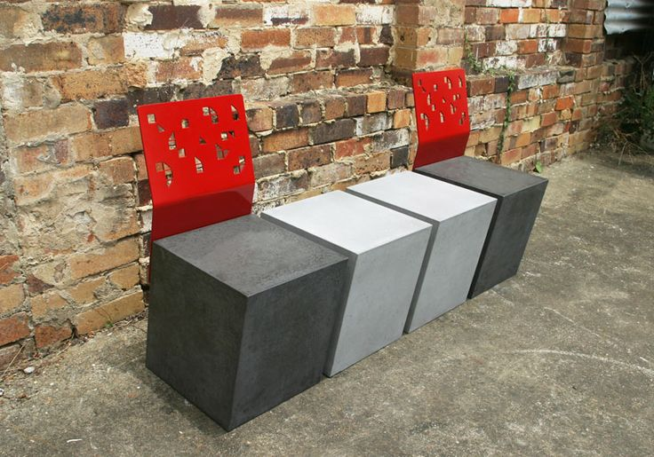 POPconcrete Boksi Stool with tables!