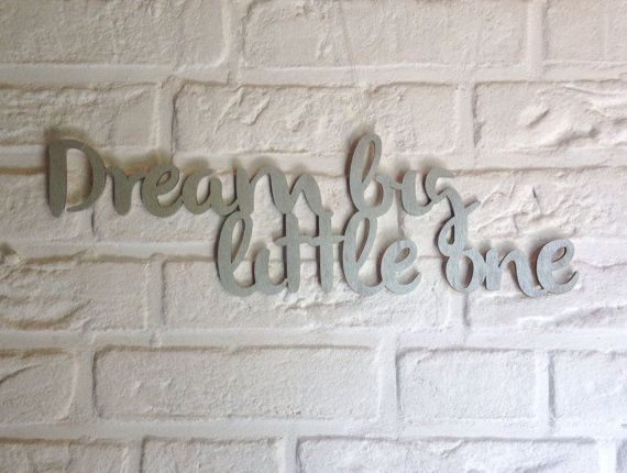 Dream big quote wall decor silver dream big little by Cut4you