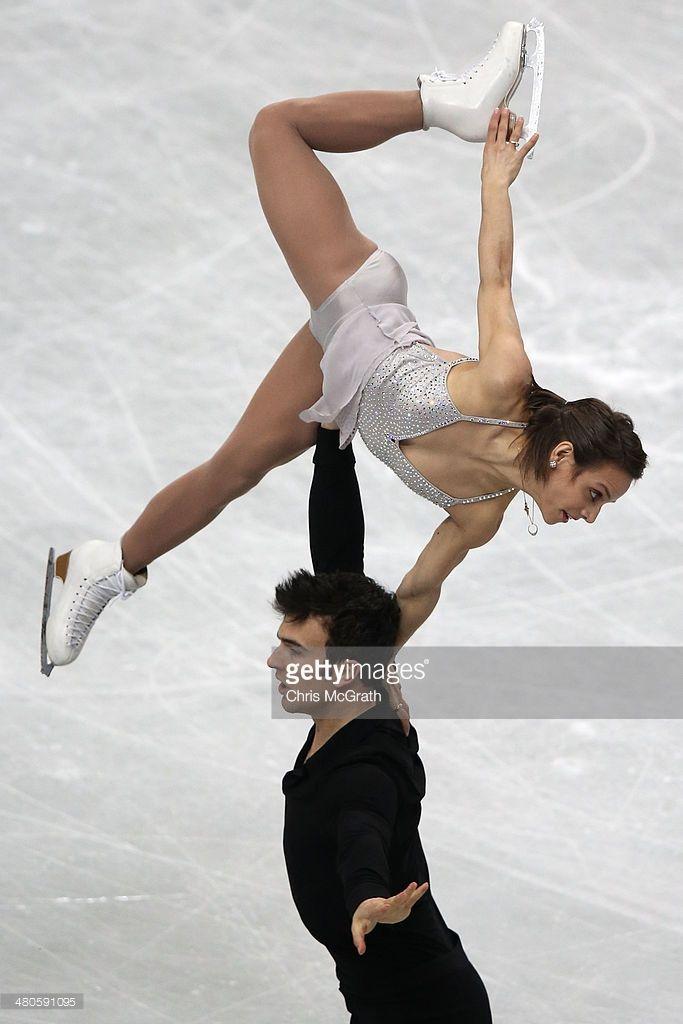 Meagan Duhamel and Eric Radford of Canada compete in the Pairs Short Program during ISU World Figure Skating Championships at Saitama Super Arena on March 26, 2014 in Saitama, Japan.