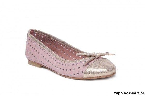 balerinas rosa y dorado Alfonsina Fal primavera verano 2015