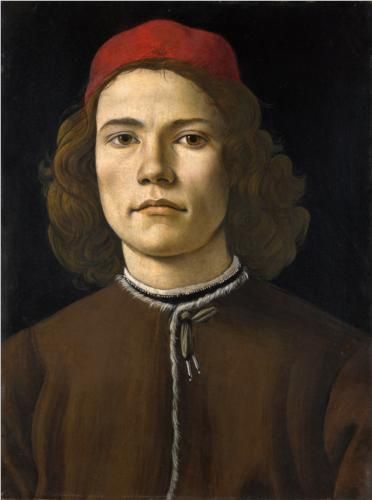 Portrait of a Young Man - Sandro Botticelli http://www.wikipaintings.org/en/sandro-botticelli/portrait-of-a-young-man-1483-1