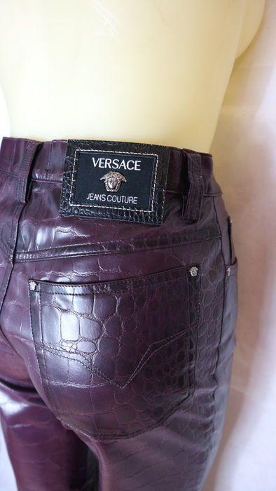 Versace - panatloni effetto cocco