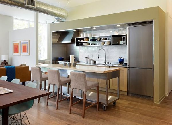 I am hooked on the idea of a moveable kitchen island. If we can move furniture around in other rooms of the house, then why not the kitchen?