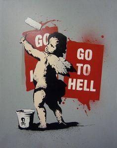 Banksy Mad cupid