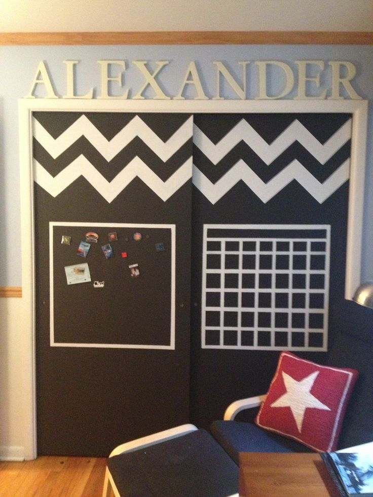 Chalkboard And Magnet Paint Closet Doors Made For My