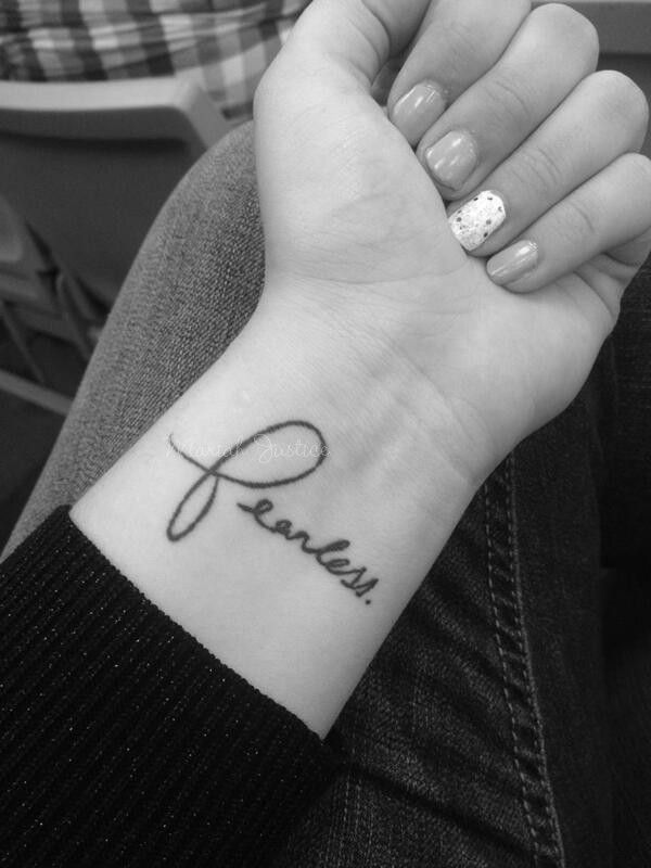 My fearless tattoo, written personally by Taylor Swift