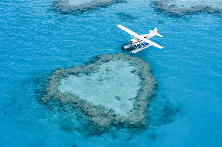 Treat your special someone to the ultimate treat - a scenic flight over Heart Reef in The Whitsundays. (Tip for the fellas: Have an engagement ring ready).
