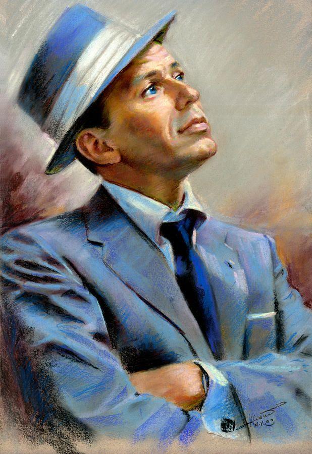 Frank Sinatra  Pastel  - Frank Sinatra  Fine Art Print