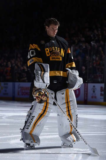 BOSTON, MA - MARCH 11: Tuukka Rask #40 of the Boston Bruins stands during the National Anthem before the game against the Philadelphia Flyers at the TD Garden on March 11, 2017 in Boston, Massachusetts. (Photo by Brian Babineau/NHLI via Getty Images)
