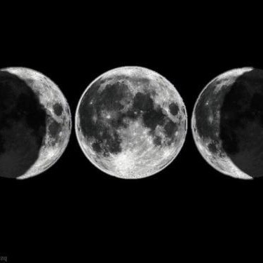 triple goddess, maiden (waxing) mother (full) crone (waning)