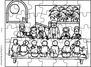 lords supper coloring pages - photo#16