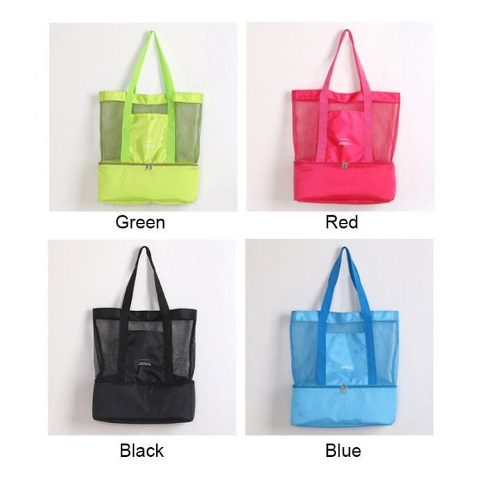 High Capacity Women Mesh Transparent Bag Double Layer Heat Preservation Large Picnic Beach Bags Women S Shoulder Bags 2019 Bikiniconcepts Com Mesh Beach Bags Transparent Bag Bags