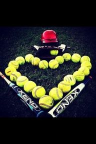 We need to do a picture like this!! softball quotes - Google