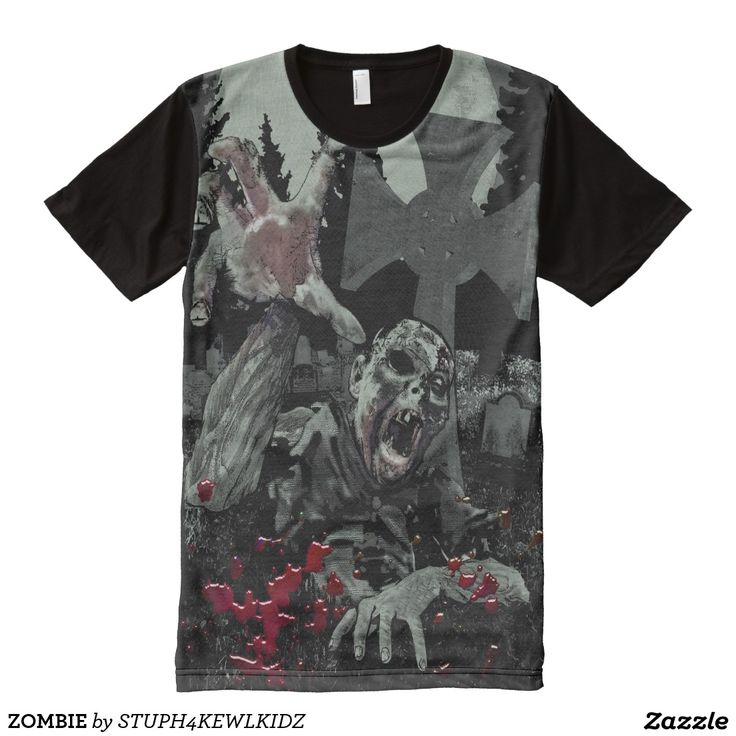 shop zombie all over print t shirt created by personalize it with photos text or purchase as is - Zombie Pictures To Print