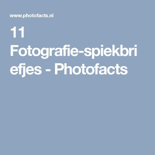 11 Fotografie-spiekbriefjes - Photofacts