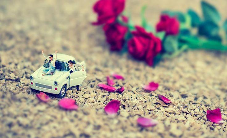 Miniature Theme Pre-Wedding photo shoot by Coolbluez Photography for Priyanka & Arihant of WeddingSutra.