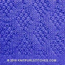 Irish Moss Diamond - Knit Purl Stitches