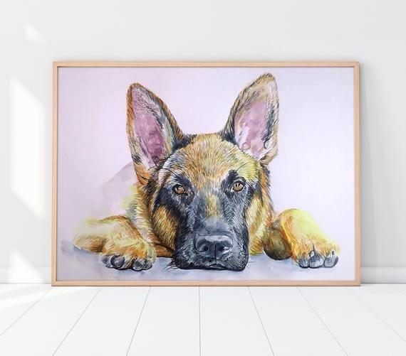 Custom Pet Portrait | Custom dog portrait | Custom cat portrait ...