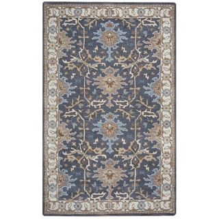Shop for Arden Loft Crown Way Charcoal Grey/ Beige Oriental Hand-tufted Wool Area Rug (10' x 14'). Get free shipping at Overstock.com - Your Online Home Decor Outlet Store! Get 5% in rewards with Club O! - 17622692