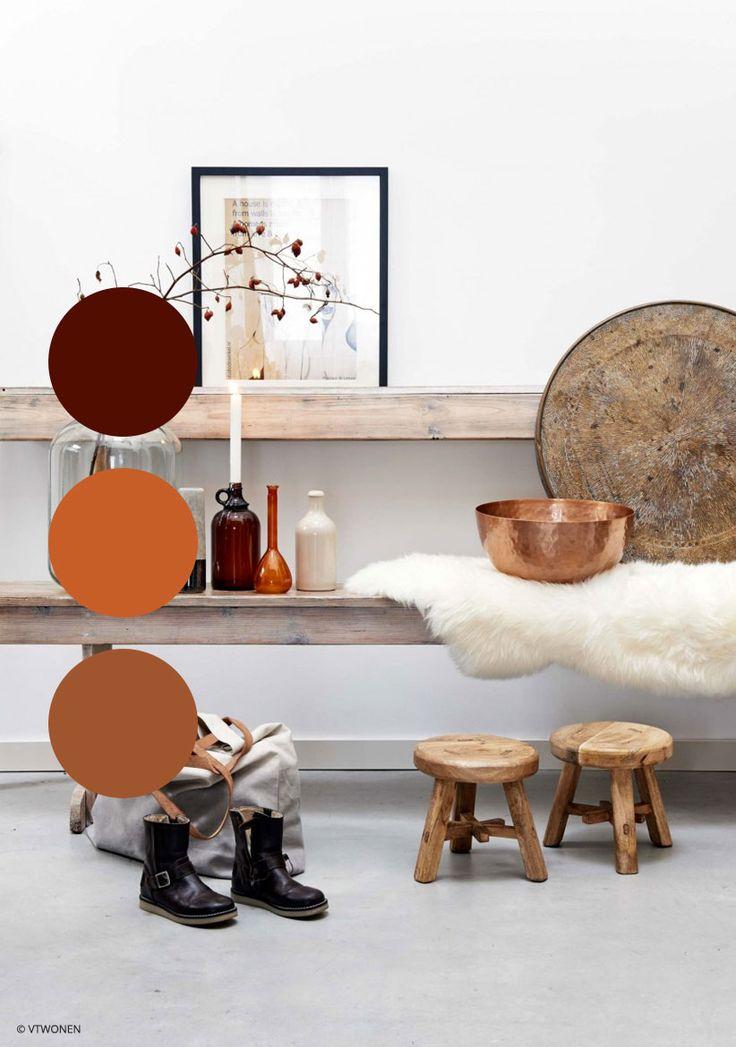 Beken herfstkleuren in je huis met deze warme bordeaux, oranje en kopertinten