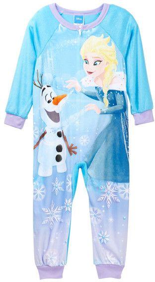 AME Frozen Elsa & Olaf Minky Blanket Sleeper (Little Girls & Big Girls)