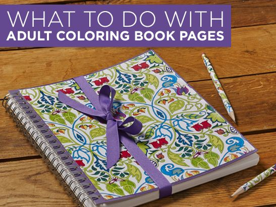7 Amazing Ways To Craft With Adult Coloring Books Via Plaidcrafts