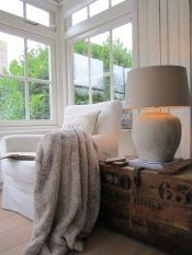 Room Seventeen brown wood as accent lamp-diy?