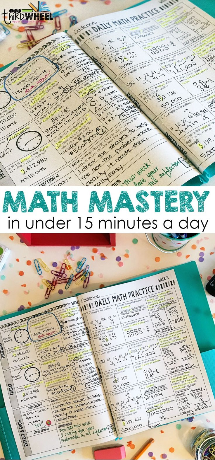 Looking for a way to build test prep into your routine? A daily math spiral review is a perfect solution! Ideal for homework or morning work, your students will master core standard by practicing the strategies you've taught them again and again. From word problems to place value, its all here. Plus these activities prompt students to reflect on their math strategies and learning. Stop spending weeks on test review & start a spiral review routine in your classroom.  For 3rd, 4th, & 5th…